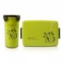 Bolsa Térmica de Mão Cinza Fresh Com Marmita e Copo Jacki Design