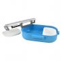 Bolsa Térmica de Mão com Marmita e Garrafal Azul Fresh