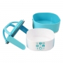 Bolsa Térmica de Mão Concept com Marmita Dupla Azul Lanch Box