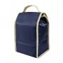 Bolsa Térmica Lancheira de Mão Azul Essencial com Pote de Vidro e Squeeze