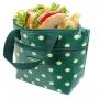 Bolsa Térmica Lancheira de Mão com Bolso Externo Verde Look