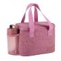 Bolsa Térmica Rosa Alça de Mão Concept Com Marmita Dupla e Copo