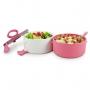 Bolsa Térmica Rosa Concept com Marmita Dupla e Porta Talheres