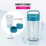 Copo Garrafa Fitness Azul Com 430ml Com Alça Concept Jacki Design