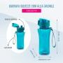 Garrafinha Squeeze Fitness Com Alça Com 450 ml Lifestyle Jacki Design