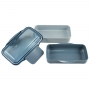 Kit Bolsa Térmica Azul Com Marmita Dupla 950ml e Garrafa 450ml