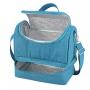 Kit Bolsa Térmica Dupla Azul Com Marmita 950ml Concept