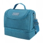 Kit Bolsa Térmica Dupla Azul Com Porta Talheres Concept