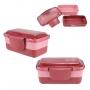 Kit Bolsa Térmica Dupla Rosa Com Marmita e Copo Concept