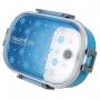 Kit Bolsa Térmica PU Azul Com Marmita e Garrafa 450ml
