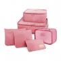 Kit com 3 Malas de Viagem Média, Pequena, Mini Palermo e Kit Organizador Rosa