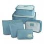 Kit com 3 Malas de Viagem Média, Pequena, Mini Palermo e Kit Organizador Azul