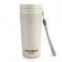 Kit de Bolsa Térmica Dupla Preta For Men Com Marmita 750ml e copo Ecológica Bege