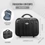Kit de Viagem Com Mala e Maleta em ABS Preto Contempo e Porta Sapato
