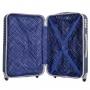 Kit Mala de Bordo Para Viagem ABS Azul Turim Com Frasqueira Alça De Mão e Ombro