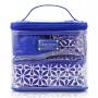 Kit Nécessaire 4 em 1 Geométrica Étnica Azul Jacki Design