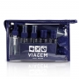 Mala De Bordo ABS Azul Açores Com Kit Higiene e Nécessaire For Men