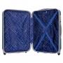 Mala de Viagem Média em ABS Rodinhas 360º Palermo Com Kit Organizador Azul