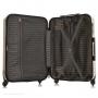 Mala de Viagem Media Rodinhas 360º Cadeado TSA Glitter Com Kit Organizador Dourado