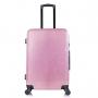 Mala de Viagem Media Rodinhas 360º Cadeado TSA Glitter Com Kit Organizador Rosa