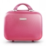 Mala de Viagem P Dream Com Maleta Pink Com Kit de Frascos Para Produtos de Higiene