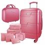 Mala de Viagem Para Bordo Dream Com Maleta Pink Com 6 Organizadores Jacki Design