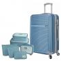 Mala de Viagem Pequena em Abs Rodinhas 360º Palermo Com Kit Organizador Azul