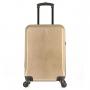Mala de Viagem Pequena Rodinhas 360º Cadeado TSA Glitter Com Kit Organizador Dourada