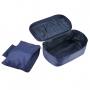 Mala Pequena Em ABS Azul Milão Com Bolsa e Nécessaire Para Roupas intimas