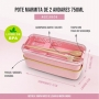 Marmita Ecológica Com 2 Andares Rosa 750 ml Jacki Design