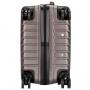 Mini Mala de Viagem ABS Bege Com Estojo e Frascos Kit Higiene