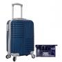 Mini Mala de Viagem Turim Azul Com Nécessaire e Frascos