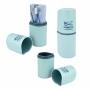 Porta Escova e Pasta de Dente Concept Azul Jacki Design