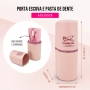 Porta Escova e Pasta de Dente Concept Rosa Jacki Design