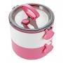 Pote Marmita de 2 Andares com Alça de 1600ml Life Style Rosa