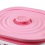 Pote Marmita de 2 Andares com Alça de 1690ml Lunch Box Rosa