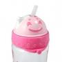 Squeeze Com canudo Sapeka Coração Rosa 480 ml Jacki Design