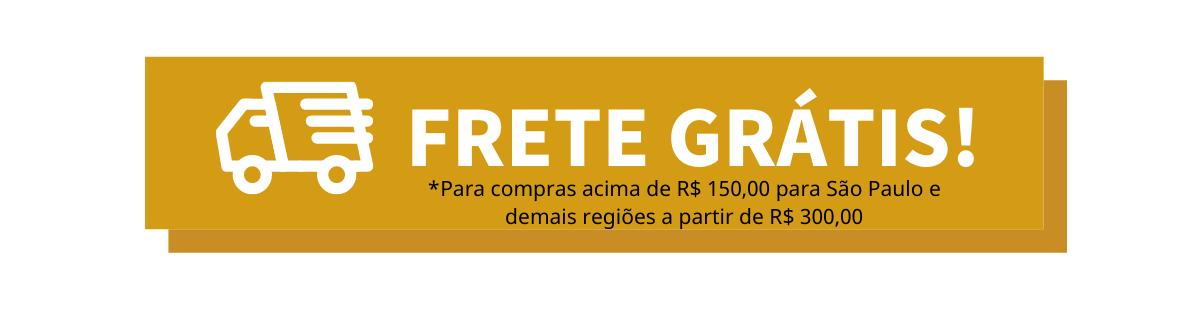 Frete Grátis Para Compras R$ 300,00 para o Brasil todo