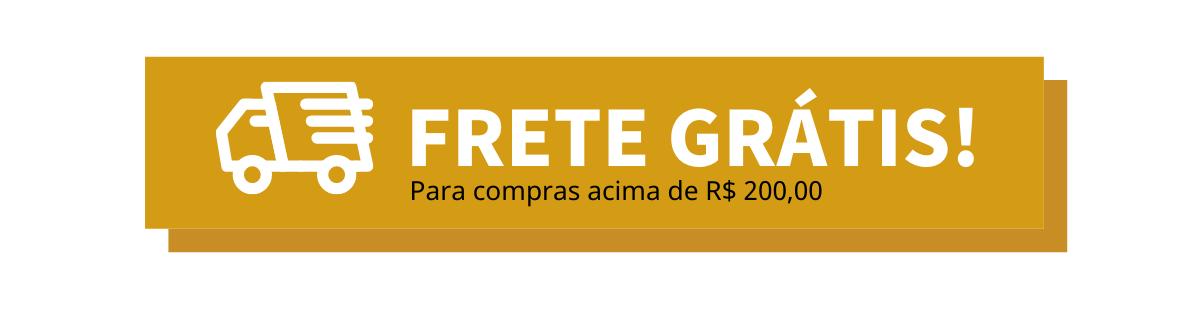 Frete Grátis Para Compras R$ 200,00 para o Brasil todo