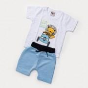 Conjunto bebê Menino - Bermuda e Camiseta Leão
