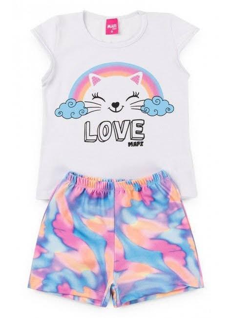 Conjunto Infantil Tie Dye Love