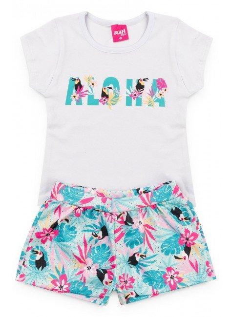 Conjunto Menina Aloha