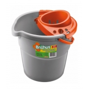 Brilhus Balde com Escorredor Plástico 9 L - CX c/ 6