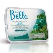 Cera Quente em Barra Depil Bella Algas com Menta Deo 1kg - CX c/ 6