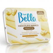Cera Quente em Barra Depil Bella Cremosa Chocolate Branco 800g - CX c/ 6