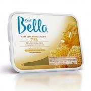 Cera Quente em Barra Depil Bella Mel Deo 1kg - CX c/ 6