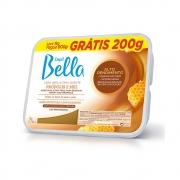 Cera Quente em Barra Depil Bella Propólis e Mel Alto Rendimento 1kg-Grátis 200g - CX c/ 6