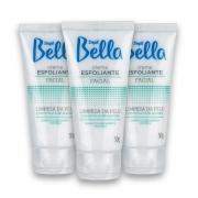 Kit c/ 3 Creme Esfoliante Facial de Alecrim Depil Bella 50g
