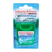 Kit c/ 5 Fio Dental REACH JOHNSON'S Expansion Plus Menta 50m
