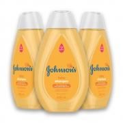 Kit com 3 Shampoos JOHNSON'S Baby Regular 400ml